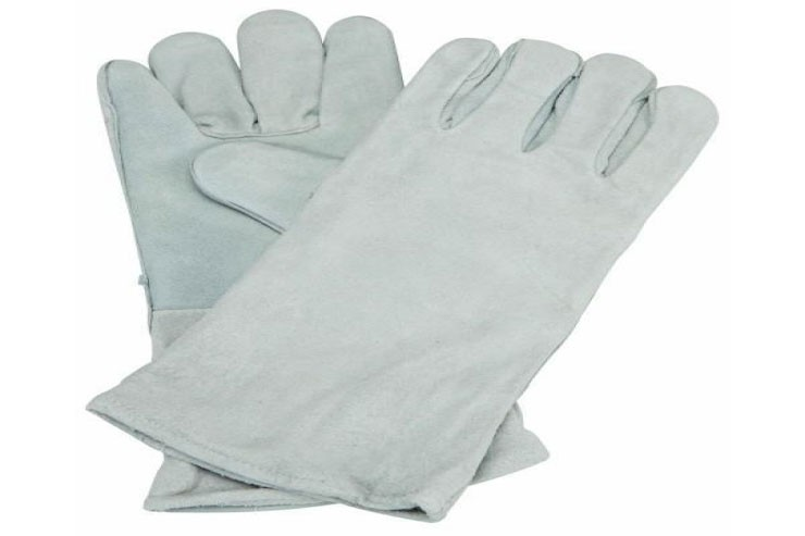 Leather Hand Gloves grey
