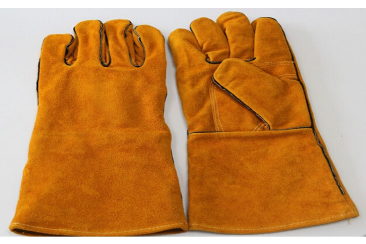 Leather Hand Gloves yellow